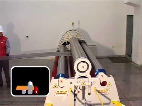 MCA2013 - валковый гибочный станок (вальцы) Promau DAVI, изготовление обечайки