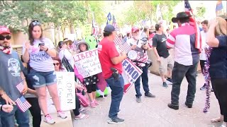 Protesters against stay-at-home order rally at Arizona Capitol