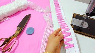 Dori Loops और Pintucks के साथ Palazzo Pant का सबसे सुन्दर डिजाइन बनाना सीखें ghori fashion designer