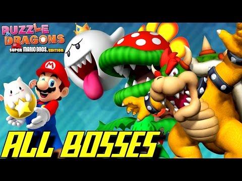 Puzzle & Dragons: Super Mario Bros. Edition - All Bosses