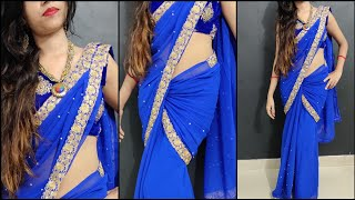 Drape Saree Like A Bollywood Actress //  How to Wear tight fitting Saree // New Style Saree