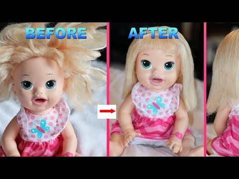 How To Fix Doll Hair With No Fabric Softner Baby Alive Youtube