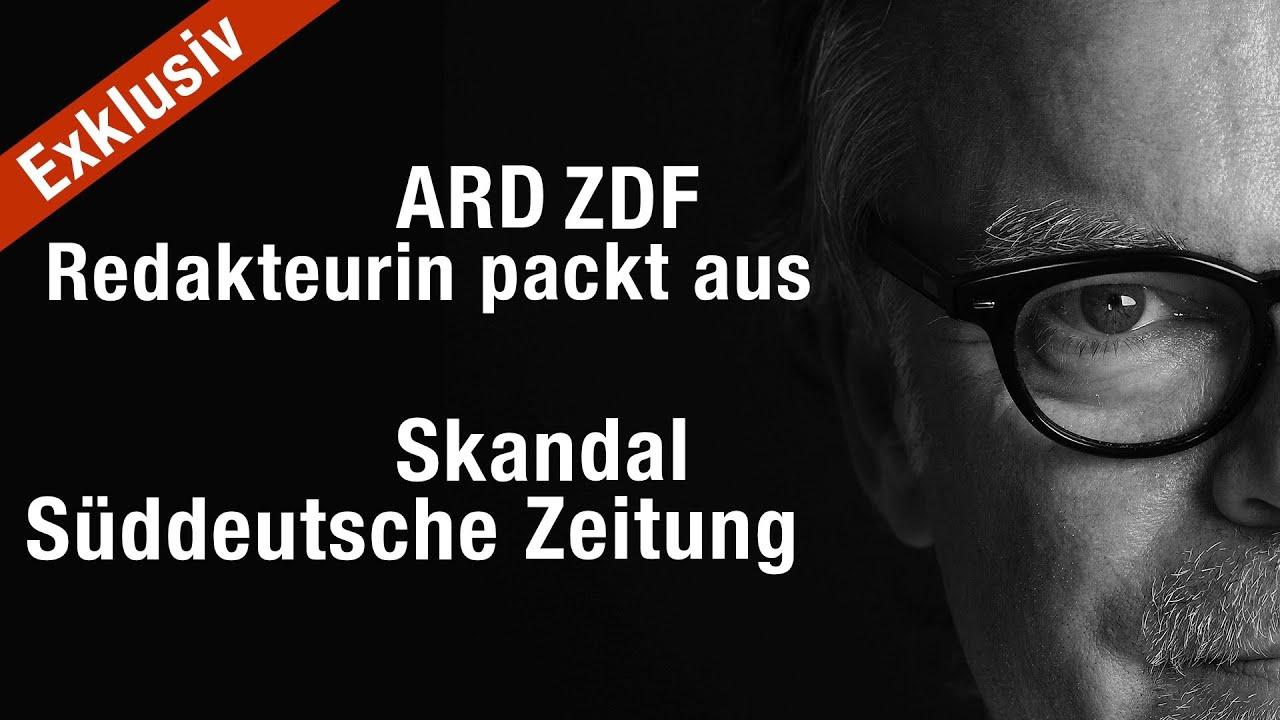 Exklusiv. Redakteurin einer öffentl.-rechtl. Anstalt packt aus. Skandal in der Süddeutschen Zeitung.