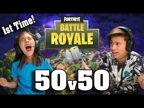 TEACHING MY SISTER HOW TO PLAY FORTNITE!!! 50v50 with JillianTubeHD!