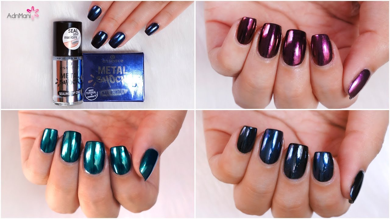 Reseña Polvos Efecto Espejo - Essence Metal Shock Nail Powders - YouTube