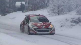 Peugeot 207 S2000 at 2010 Monte Carlo Rally Videos
