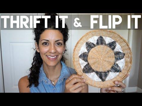 Thrift it & Flip it Collab: Boho Wall Baskets