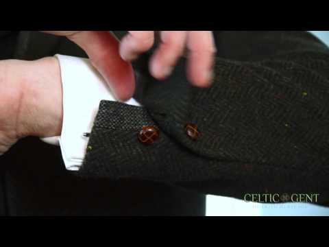 Celtic Gent The Padraig Pearse Irish Green Tweed Wool Slim Fit Jacket.