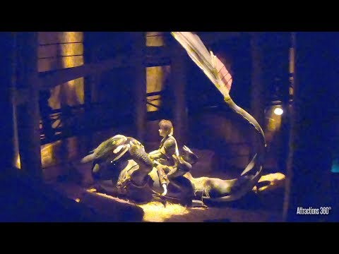 How to Train Your Dragon Dark Ride Coaster - Dragon Gliders Ride