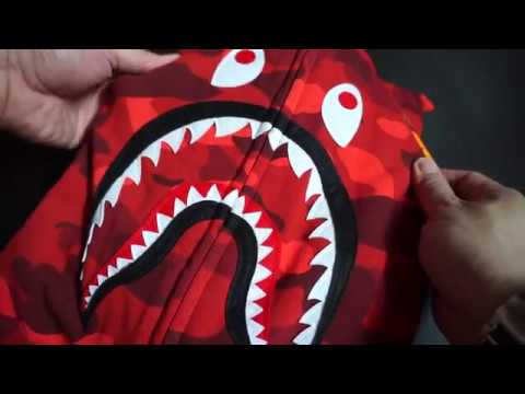 Bathing Ape BAPE Shark Hoodie Red Unboxing Review Hypebeast Fashion Supreme Offwhite Grails