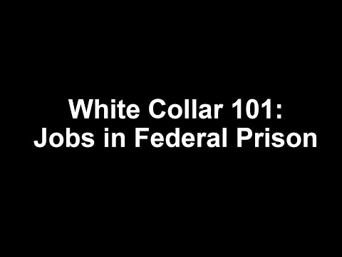 White Collar 101: Jobs in Federal Prison