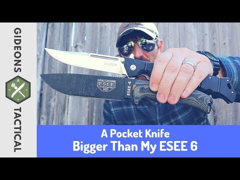 Bigger Than My ESEE6! Cold Steel Luzon 6in. Version