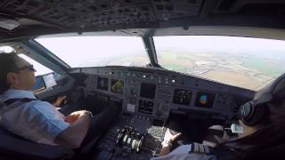 Paris LFPG Cockpit View Landing 26L