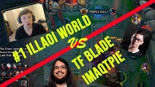 Illaoi DESTROYS Fiora in NA Challenger - feat. TF Blade, Imaqtpie, DirtyMobs
