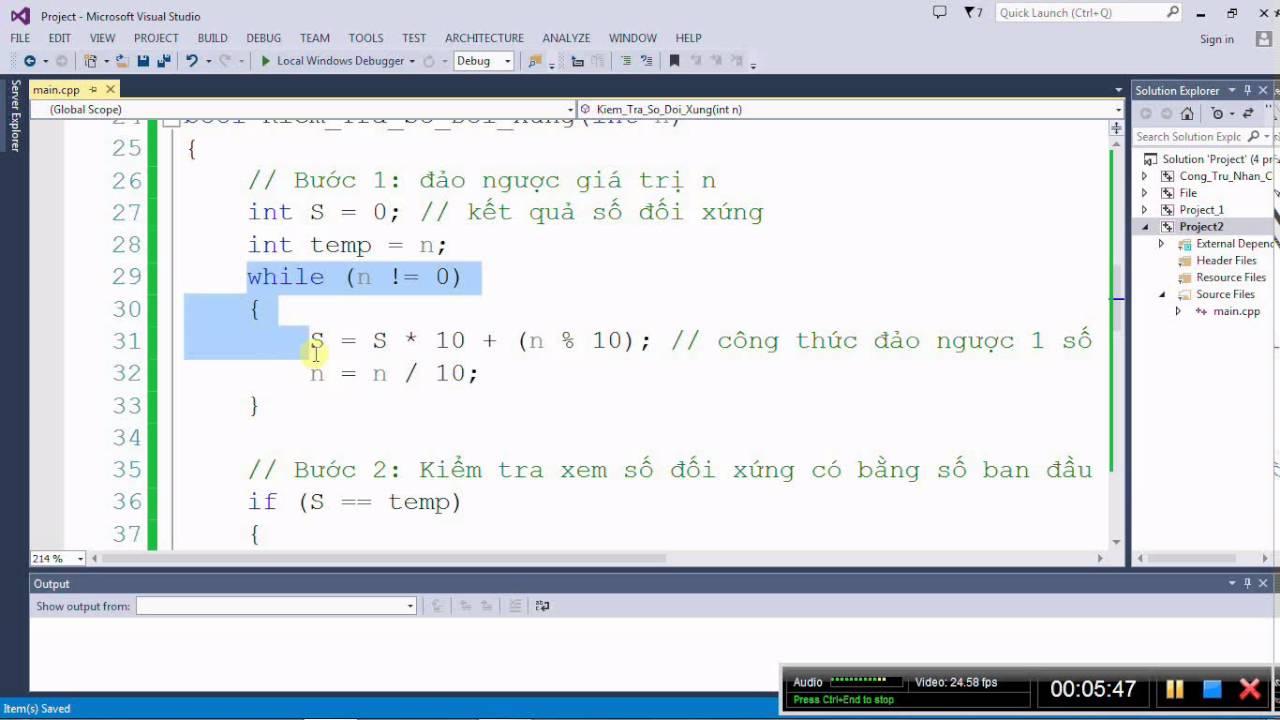 [Lập trình C/C++] Tìm số đối xứng đầu tiên của mảng 1 chiều các số nguyên