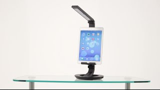 LED Desk Lamp Charging Stand for Tablets and Smartphones