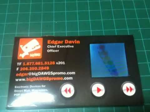 Business Card With Lcd Screen Prototype 1 Youtube