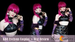 KDA Evelynn Cosplay + Wig review from Rolecosplay by Shiro Ychigo