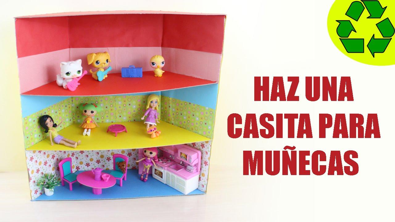 Manualidades para mu ecas haz una mini casita para tus for Como se disena una casa