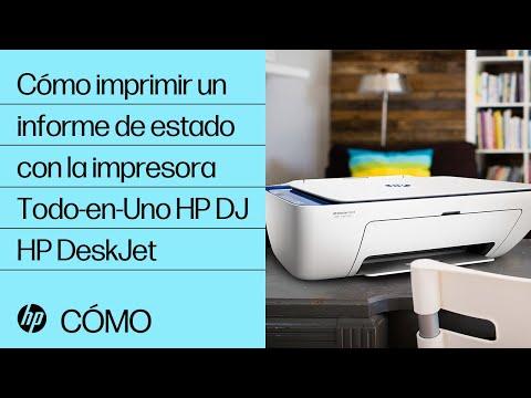 Cómo imprimir un informe de estado con la impresora Todo-en-Uno HP DeskJet | HP DeskJet | @HPSupport