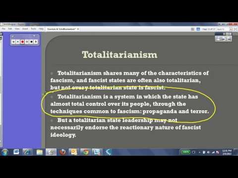 Fascism & Totalitarianism Ideologies