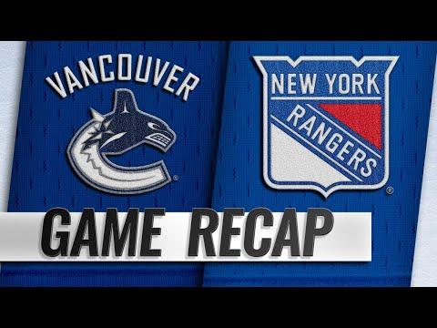 Rangers edge Canucks to extend point streak