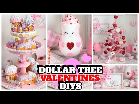 DOLLAR TREE VALENTINES DIYS 2020 WITH CHICONTHECHEAP