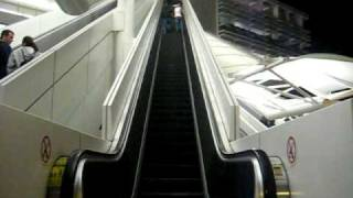 running up the down escalator