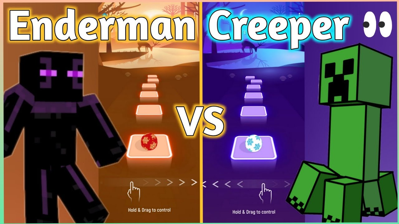 Tiles Hop - Minecraft Enderman Rap Song VS Creeper Rap Song (Dan Bull) V Gamer