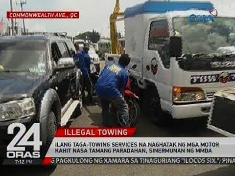 24 Oras: Ilang towing services na naghatak ng mga motor na nasa tamang paradahan, sinermunan ng MMDA