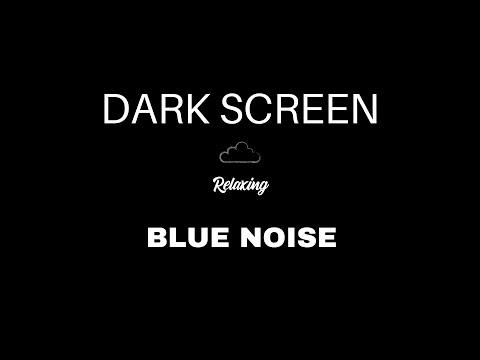 blue-noise-for-sleeping- -black-screen- -deep-blue-sound-waves