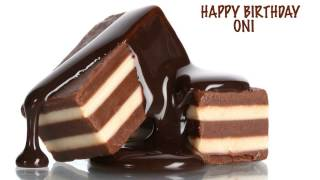 Oni  Chocolate - Happy Birthday