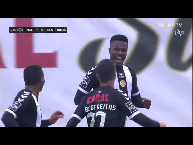 Goal | Golo Pedrão: CD Nacional (1)-0 Benfica (Liga 20/21 #32)