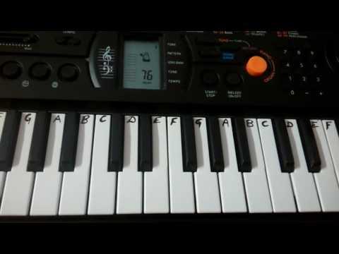Baahubali 2~ Saahore Baahubali on Keyboard{Keyboard Cover} ~instrumental (Easy Tutorial)