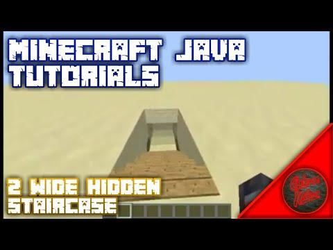 2 Wide Hidden Staircase (Tutorial) Minecraft: Java