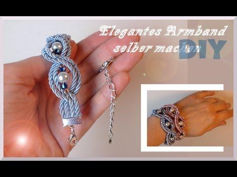 Schmuck basteln: Elegantes Armband [diy] - YouTube