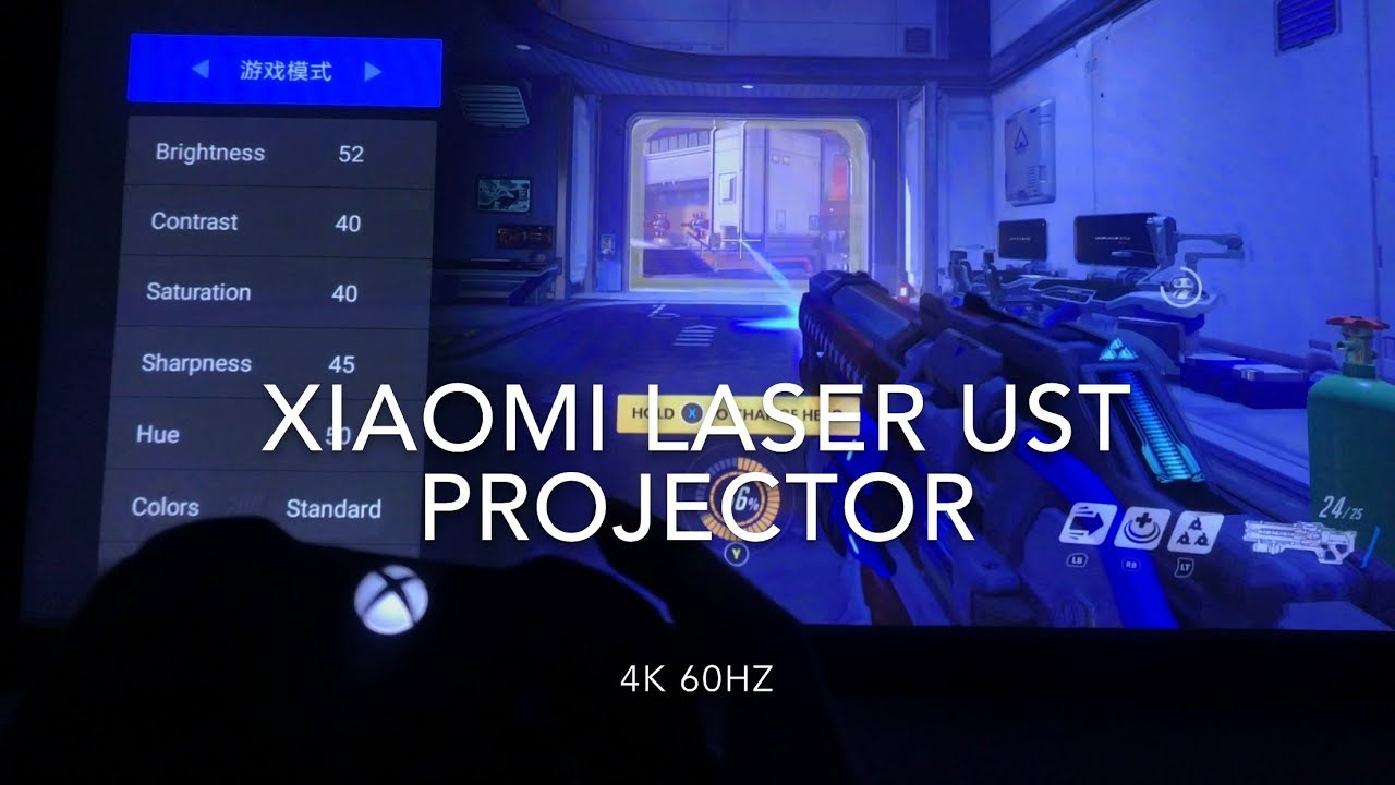 Xiaomi Laser UST Projector Input Lag Test with Overwatch
