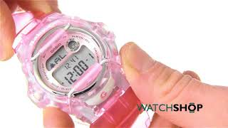 Casio Ladies' Baby-G Alarm Chronograph Watch (BG-169R-4ER)