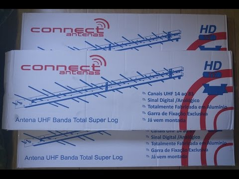 CONNECT ANTENA UHF SUPER LOG HDTV DIGITAL