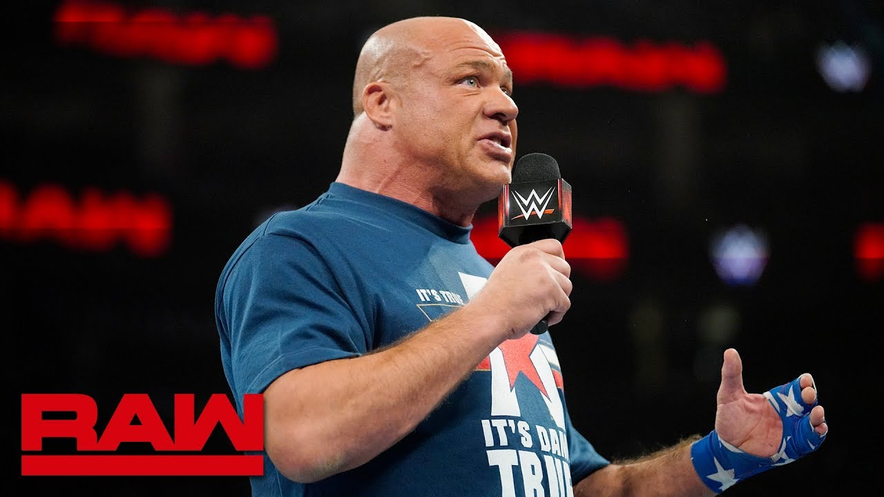 Kurt angle announces he will retire at wrestlemania raw march 11 2019 youtube - Pictures of kurt angle ...