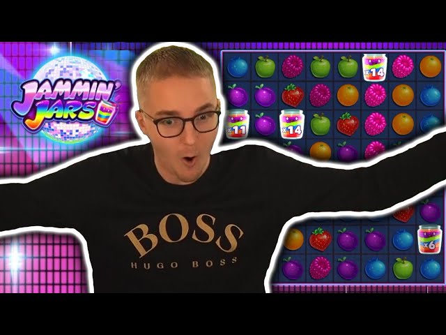 BIG WIN on JAMMIN JARS - Push Gaming Slots Big Wins