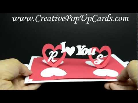 Valentines Day Pop Up Card: Twisting Hearts