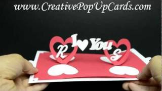 Repeat youtube video Valentines day Pop Up Card: Twisting Hearts