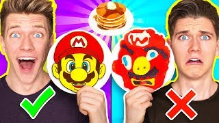 PANCAKE ART CHALLENGE 4!!! Learn How To Make Mario Odyssey Star Wars Jedi Nintendo Food DIY Pancake thumbnail