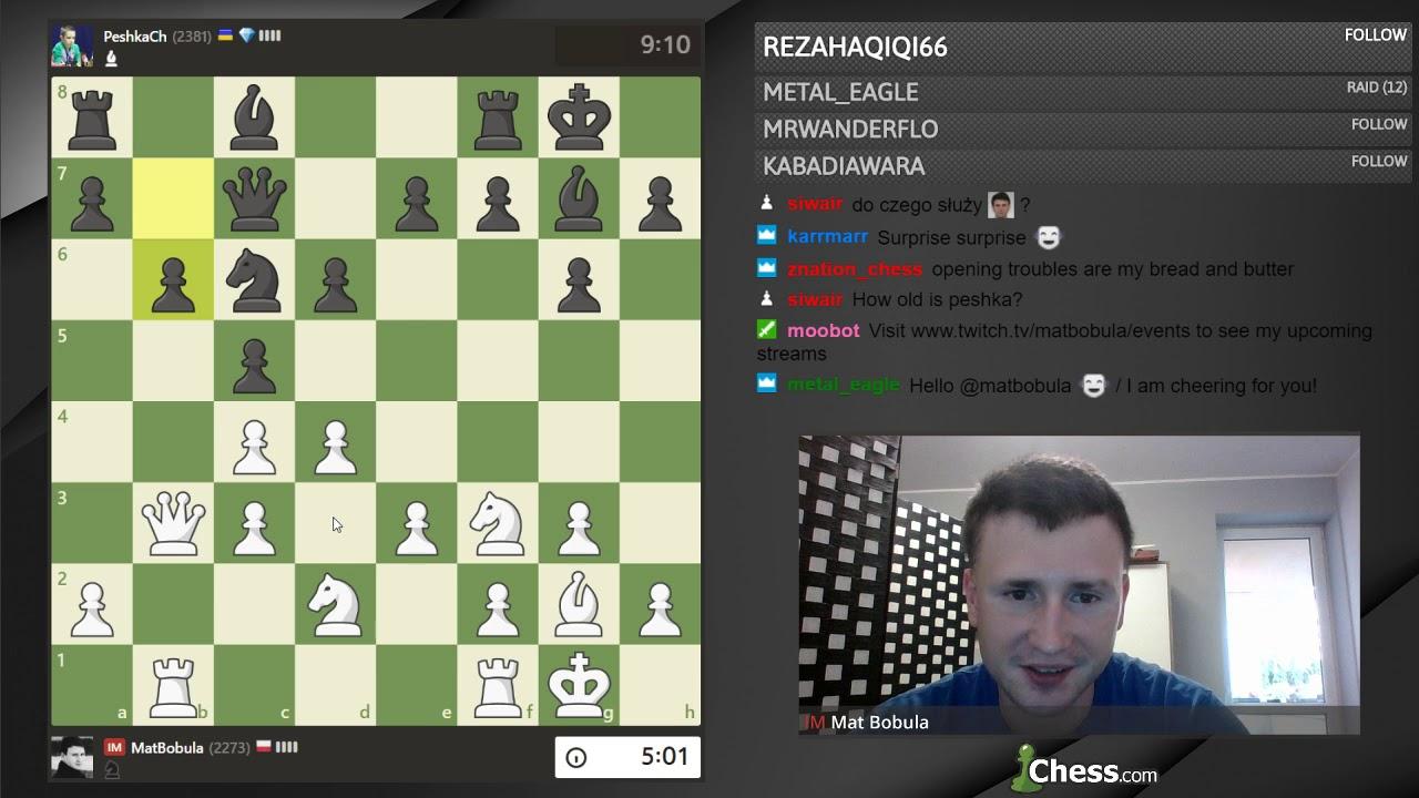 Battle of streamers: IM Mat Bobula vs  Tihon Chernyaev (PeshkaCh