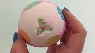 Тест бомбочки для ванны от Лаш (Lush) Рождественский пудинг(Тест замечательной бомбочки для ванны от Лаш