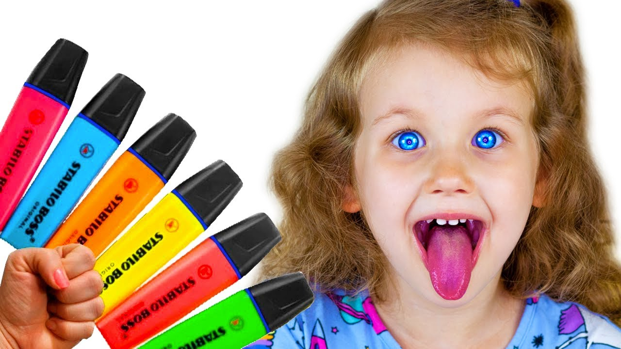 Pretends to play with his Magic Pen Preschool toddler learn color