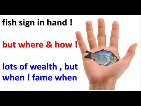 Fish Sign ! Symbol In Hand ! Wealth Fame , Nobility Sign  Palmistry ,hast Rekha