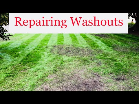 HOW TO REPAIR A WASHED OUT LAWN | FIX A MUDDY YARD