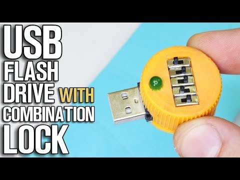 How To Make USB Flash Drive With Combination Lock